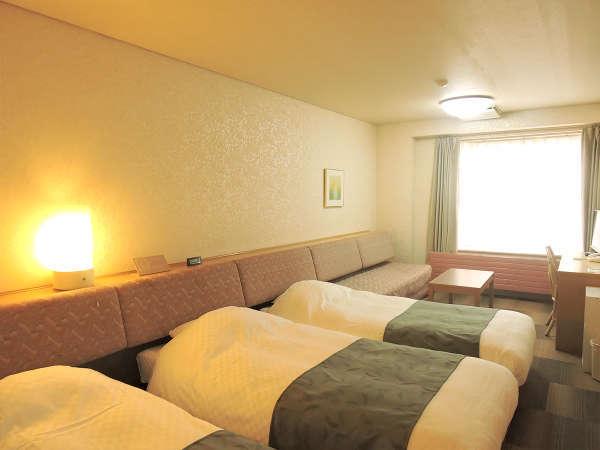 ホテルアベスト白馬リゾート / トリプルルーム【トイレ付・アウトバス】グループ旅行に最適!
