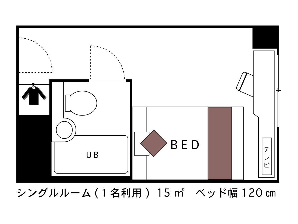 ホテルエリアワン千歳 / ◇禁煙◇スタンダードシングル【15平米】
