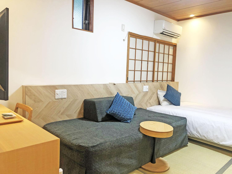 小さなホテル SHIMOKOSHIKI / 和洋エコノミ—ツイン★1〜3名【120cm/100cm】