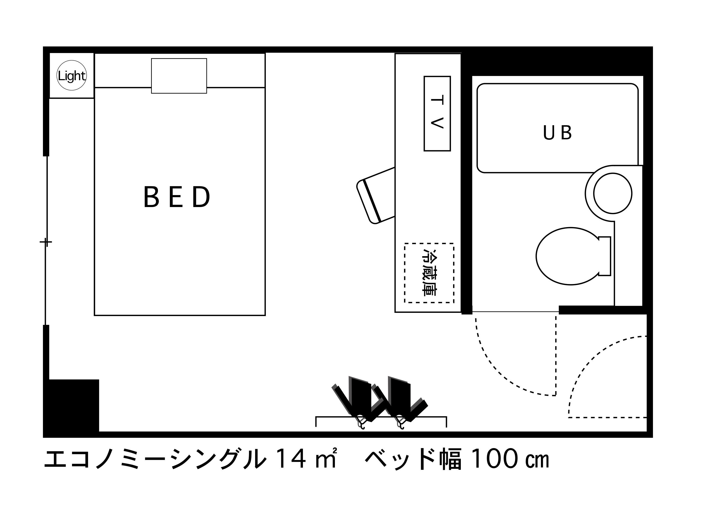 ホテルエリアワン高松 / 禁煙☆エコノミーシングル【ゆったり14平米】