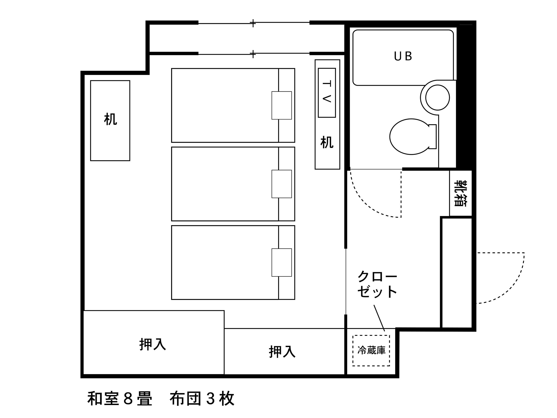 ホテルエリアワン高松 / 禁煙☆和室【☆3名様以上に最適☆】