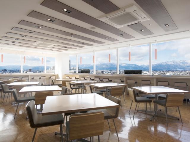 プレミアホテル-CABIN-松本 / <朝食付>【プレミアホテル-CABIN-松本】ベーシックプラン 北アルプスを一望できるレストランで