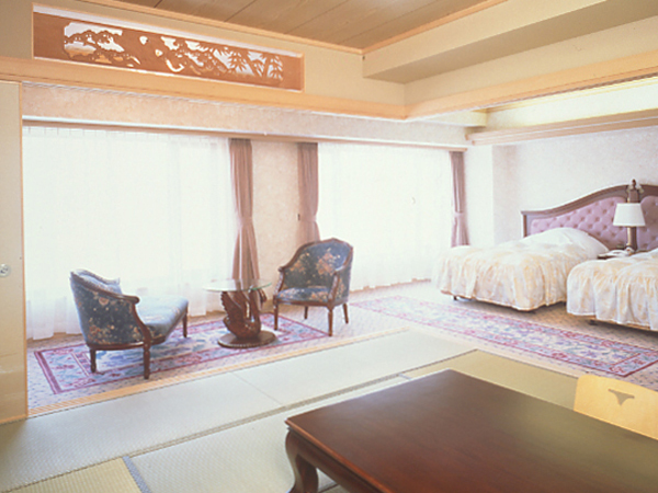 定山渓ビューホテル / 【新館】和洋室(12帖和室+ベッド2台)
