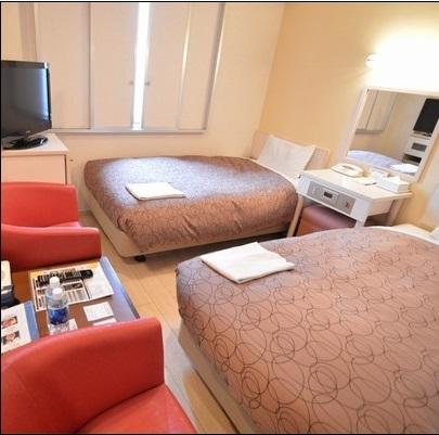 千歳第一ホテル / 〔喫煙〕小さなホワイトツイン 14.64平米
