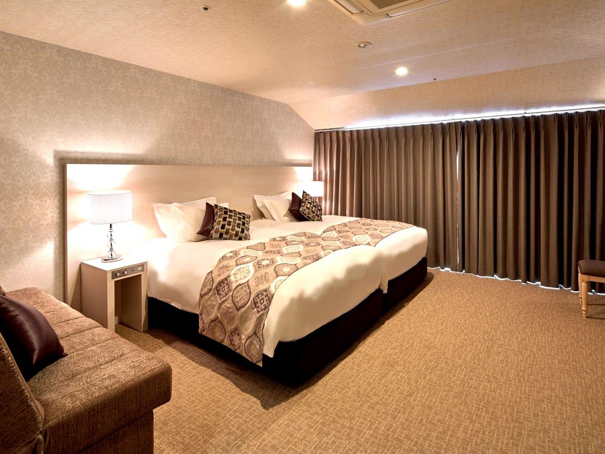 センチュリオンホテル&スパ倉敷 / 【禁煙】テラススタンダードツイン<120センチ幅ベッド×2台>