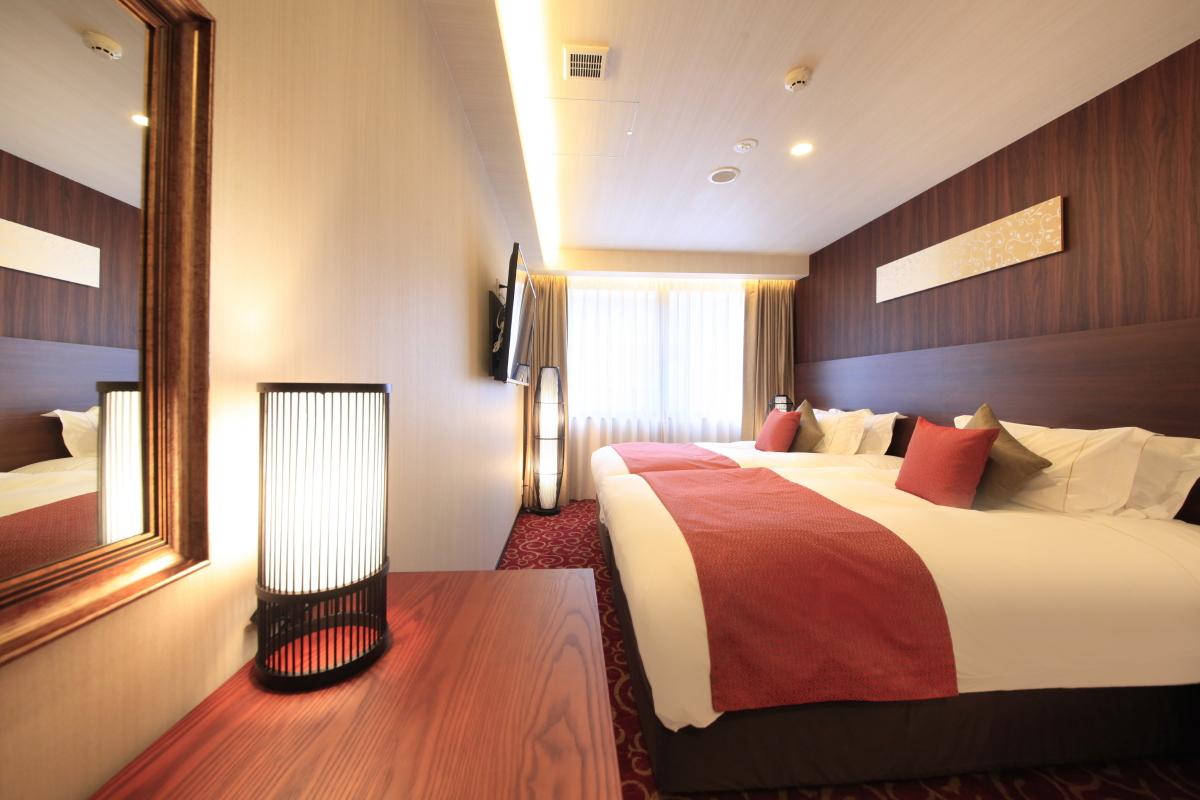 センチュリオンホテルクラシック奈良 / スタンダードツイン【喫煙室】<120センチ幅ベッド×2台>