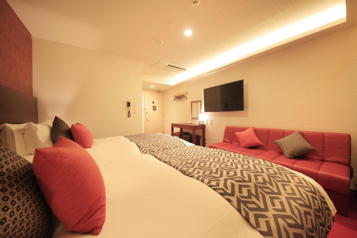 センチュリオンホテルクラシック奈良 / スーペリアツイン【喫煙室】<120センチ幅ベッド×2台>