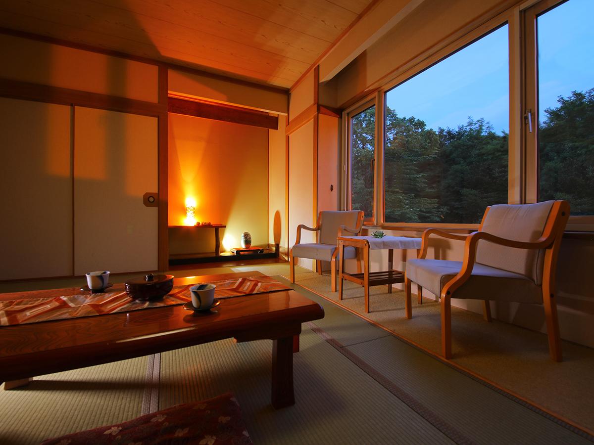 森の湯 山静館 / 【-和室12畳<禁煙>-】~ゆったり広めで贅沢なひと時~