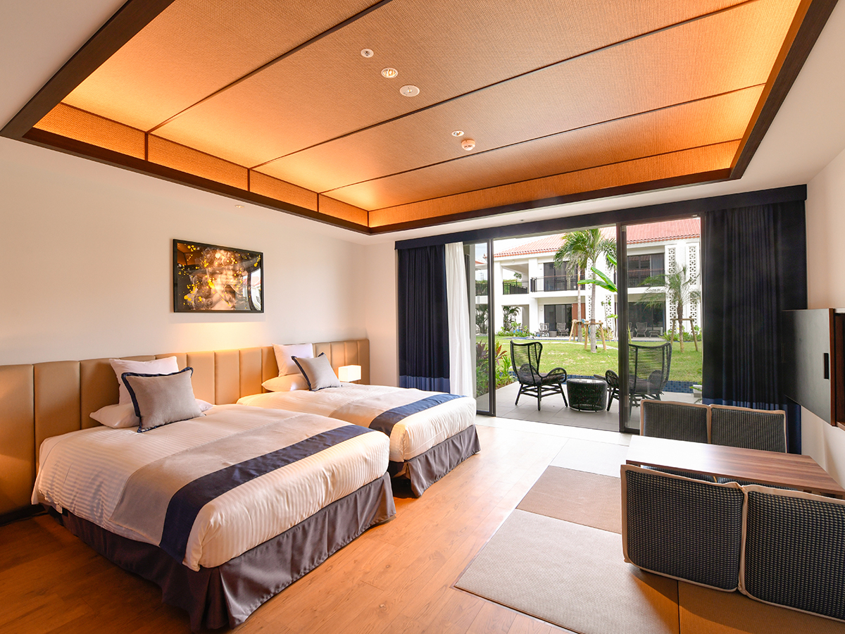 フサキビーチリゾート ホテル&ヴィラズ / ノースウイング パティオツイン(和洋室)【禁煙】