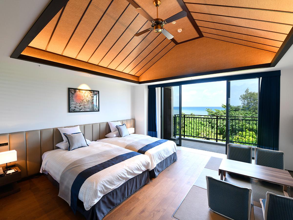 フサキビーチリゾート ホテル&ヴィラズ / ノースウイング オーシャンビューツイン(和洋室)【禁煙】