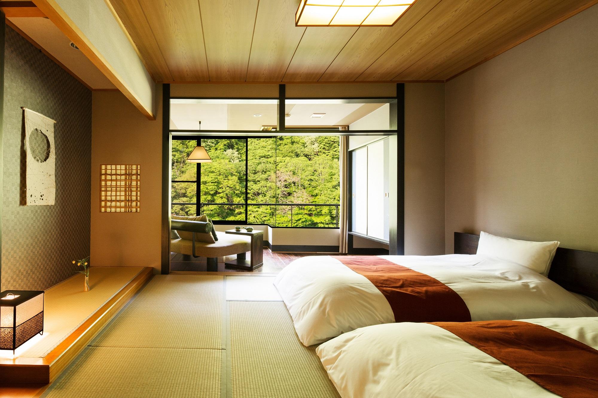 星野リゾート 界 川治 / 渓流側客室和室ベッド8畳