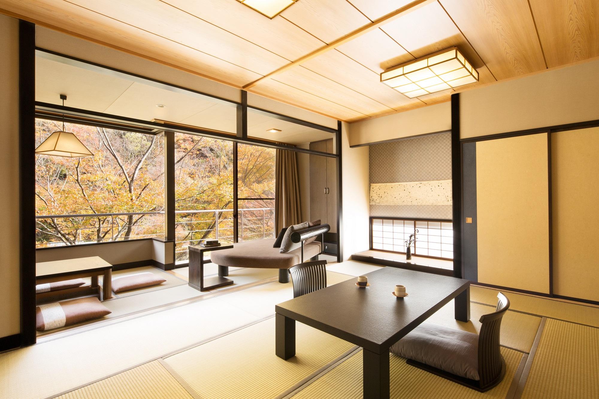 星野リゾート 界 川治 / 渓流側客室和室ベッド10畳+6畳