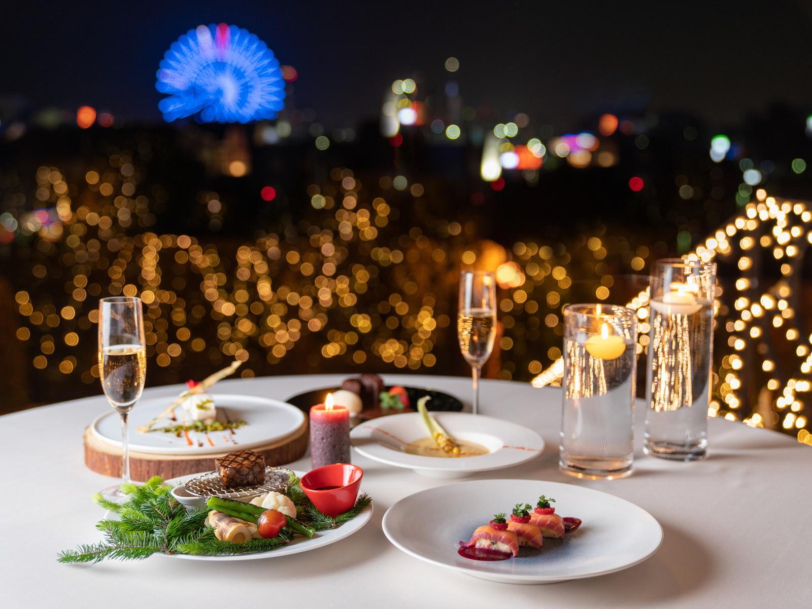 ガーデンテラス福岡ホテル&リゾート 夜景を眺めながらお部屋でゆったりと…「インルームダイニング」×「洋食コース」プラン(2食付)