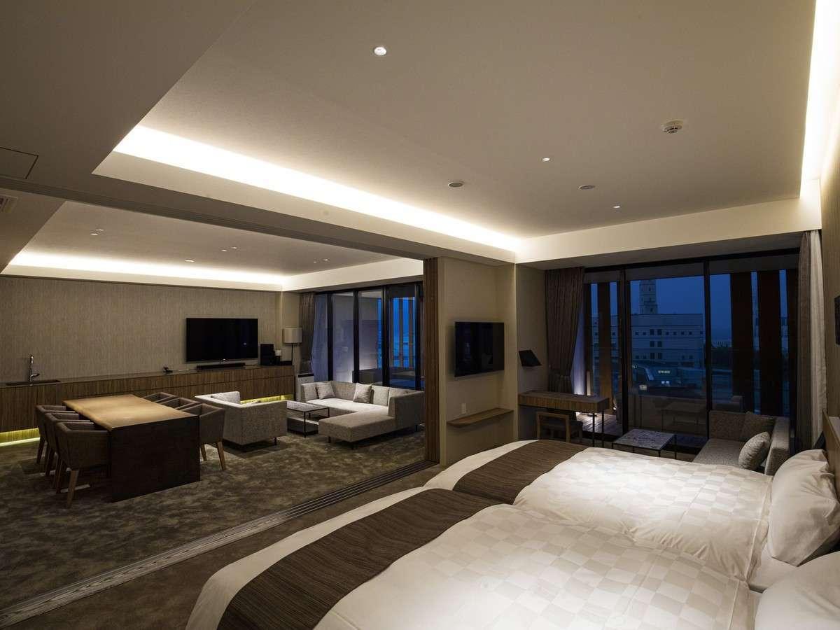 ガーデンテラス福岡ホテル&リゾート 高層階ジャグジー付グランドスイート/80平米