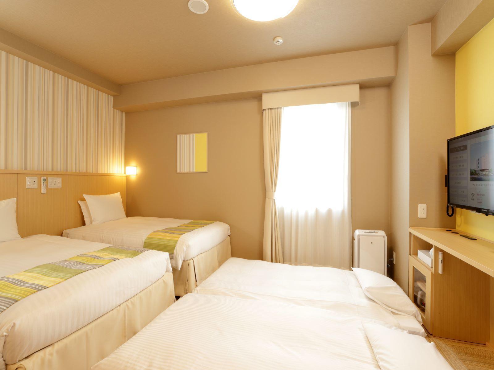 日和ホテル舞浜 / ツインルーム2~4名■禁煙 22平米【お子様も安心♪床材畳使用】