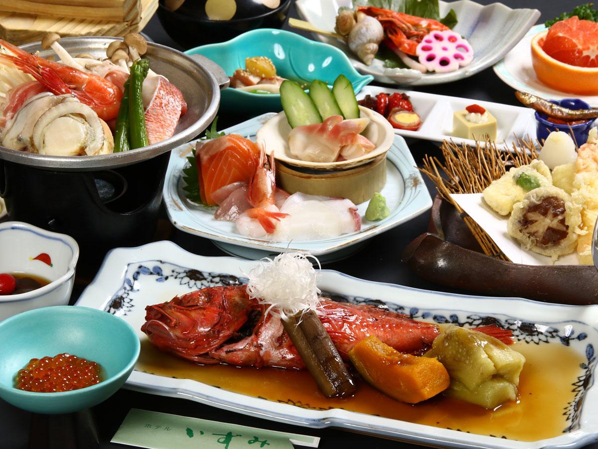 虎杖浜温泉 ホテルいずみ / 【旬海鮮満喫プラン/お食事処】お魚好きにはたまらない!新鮮魚介に舌鼓♪
