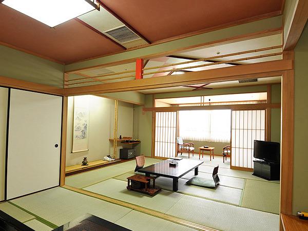 にっしょうかん 新館 梅松鶴 和室2間続き10畳+6畳(63平米以上)