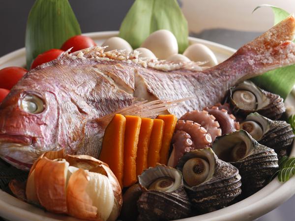 ホテルニューアワジ / 【早得21】鯛の姿造りと宝楽焼を味わうまんぷく会席