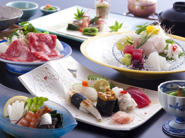"""ホテルニューアワジ 割烹""""潮彩""""由良漁港の鮮魚を使った寿司会席"""