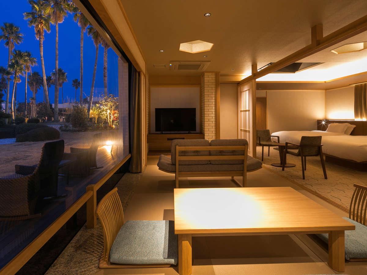 海のホテル島花 レジデンスヴィラ / 【ガーデンヴィラ】専有露天風呂付和洋室B 136平米