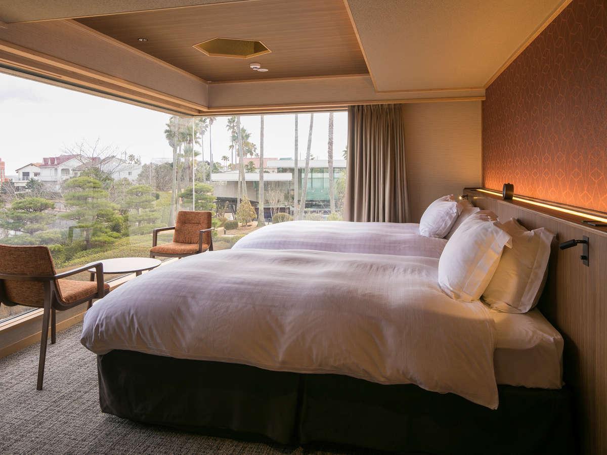海のホテル島花 レジデンスヴィラ / 【ガーデンヴィラ】専有露天風呂付ツインC 110平米