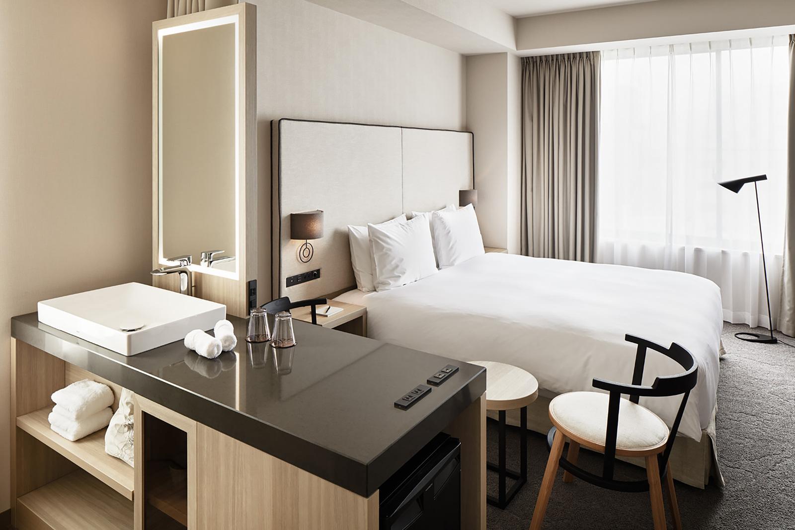 NOHGA HOTEL UENO TOKYO / コーナーダブルルーム(レインシャワー付ブースのみ)