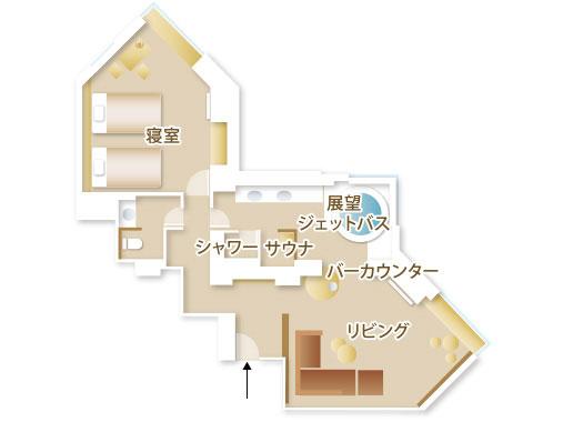 星野リゾート リゾナーレトマム / デザインスイートツインルーム