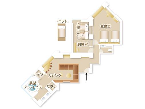 星野リゾート リゾナーレトマム / デザインスイートファイブ