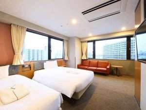 ホテルSUI赤坂 by ABEST / 【高層階確約】デラックスツイン【禁煙】120cm幅ベッド2台
