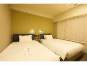 ホテルSUI赤坂 by ABEST / ツインルーム【全室禁煙】18平米~/120センチ幅シモンズベッド