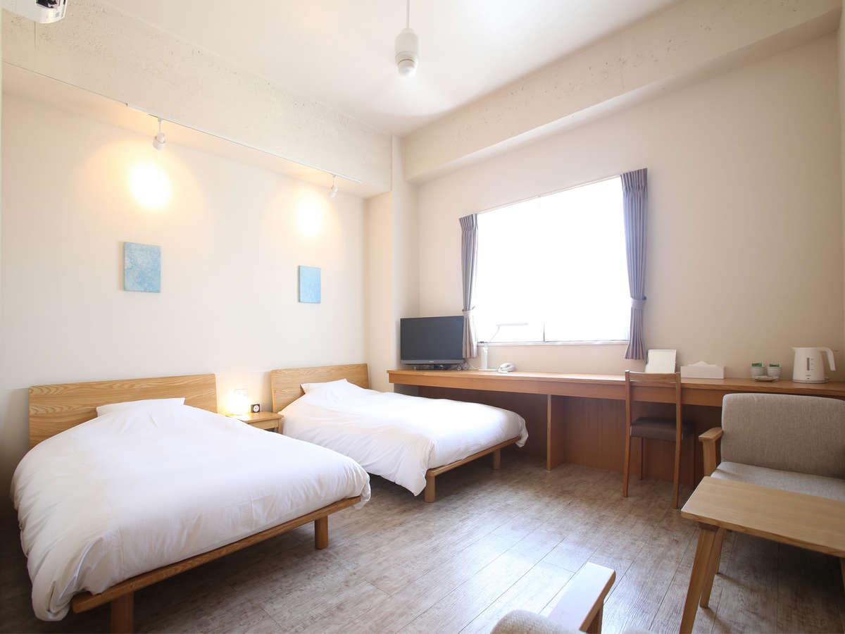 石垣島ホテル ククル / Aツインルーム(22㎡)【禁煙・定員3名】