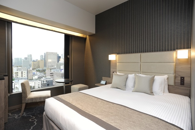 ホテル京阪 築地銀座 グランデ / <高層階スーペリアフロア>禁煙ダブル/19㎡ 広々ベッド