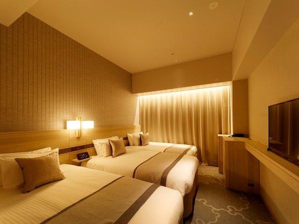 ホテル京阪 築地銀座 グランデ / <高層階スーペリアフロア>禁煙スタンダードトリプル/23㎡ バストイレ別