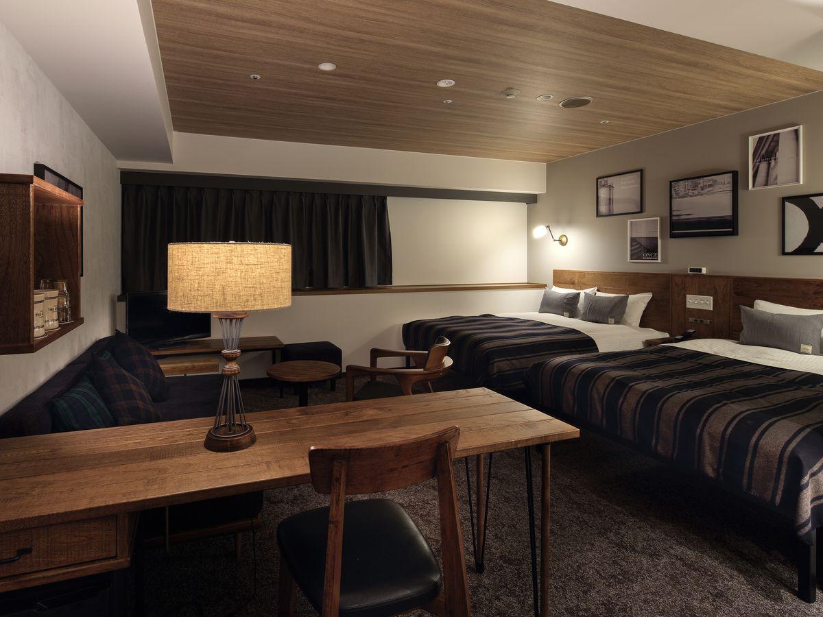 ホテル・ザ・ノット ヨコハマ ワイドファミリーツインルーム【禁煙】140cm幅