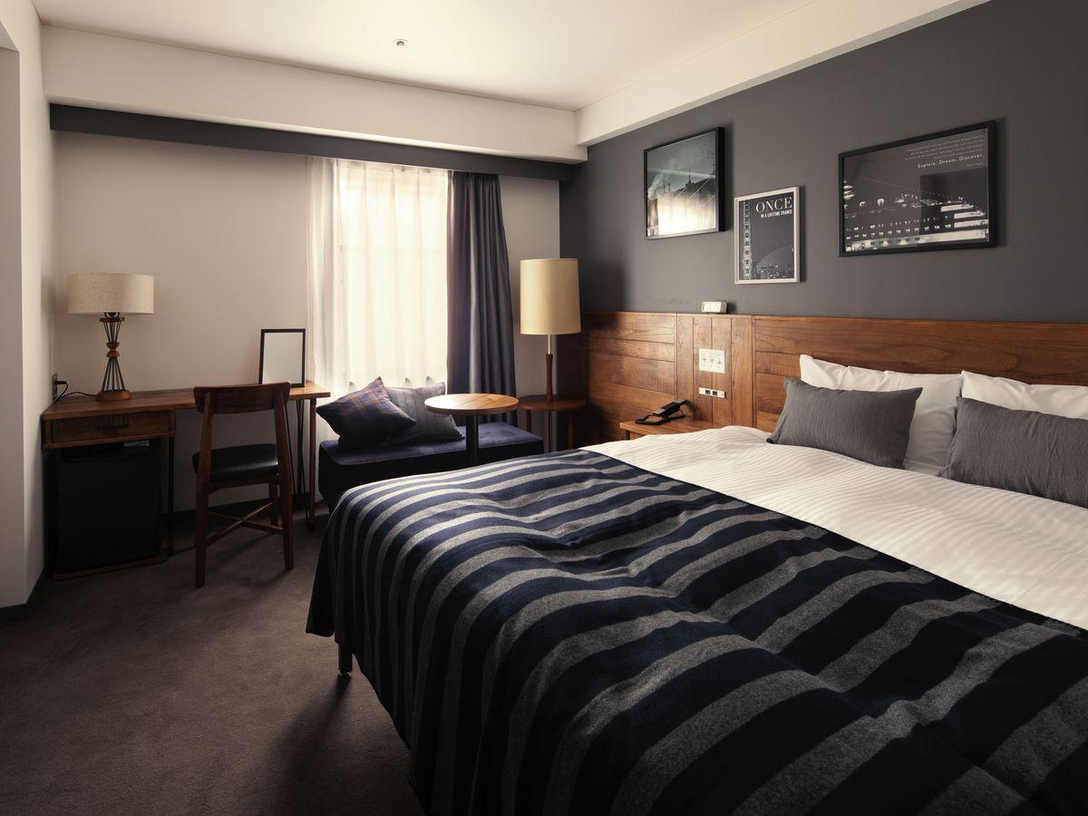 ホテル・ザ・ノット ヨコハマ ワイドダブルルーム18㎡【禁煙】160cm幅