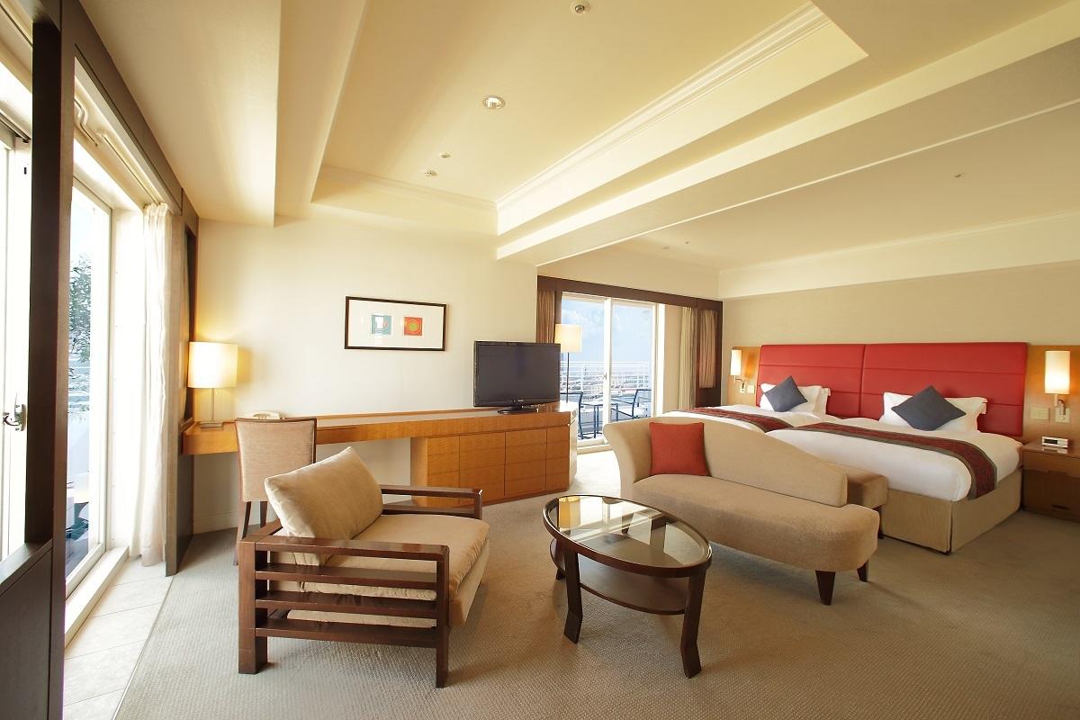 神戸メリケンパークオリエンタルホテル / デラックスコーナーツイン ノースビュー