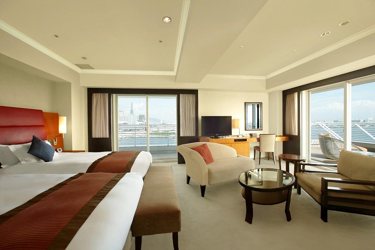 神戸メリケンパークオリエンタルホテル ジュニアコーナースイート サウスビュー
