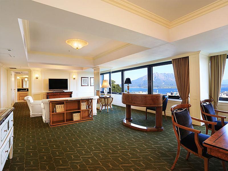 SHIROYAMA HOTEL kagoshima(城山ホテル鹿児島) / [喫煙可] SAKURAJIMAロイヤルスイート 桜島ビュー 【126平米】