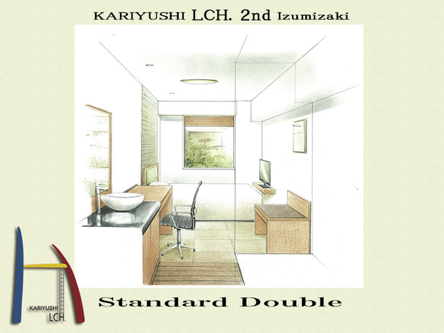 Kariyushi LCH. Izumizaki 県庁前 / スタンダードダブル LCH. 2nd