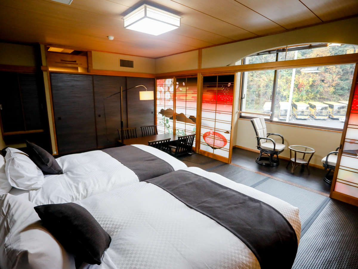 リブマックスリゾート奥道後 / 和モダン和洋室 檜半露天風呂付客室 64平米