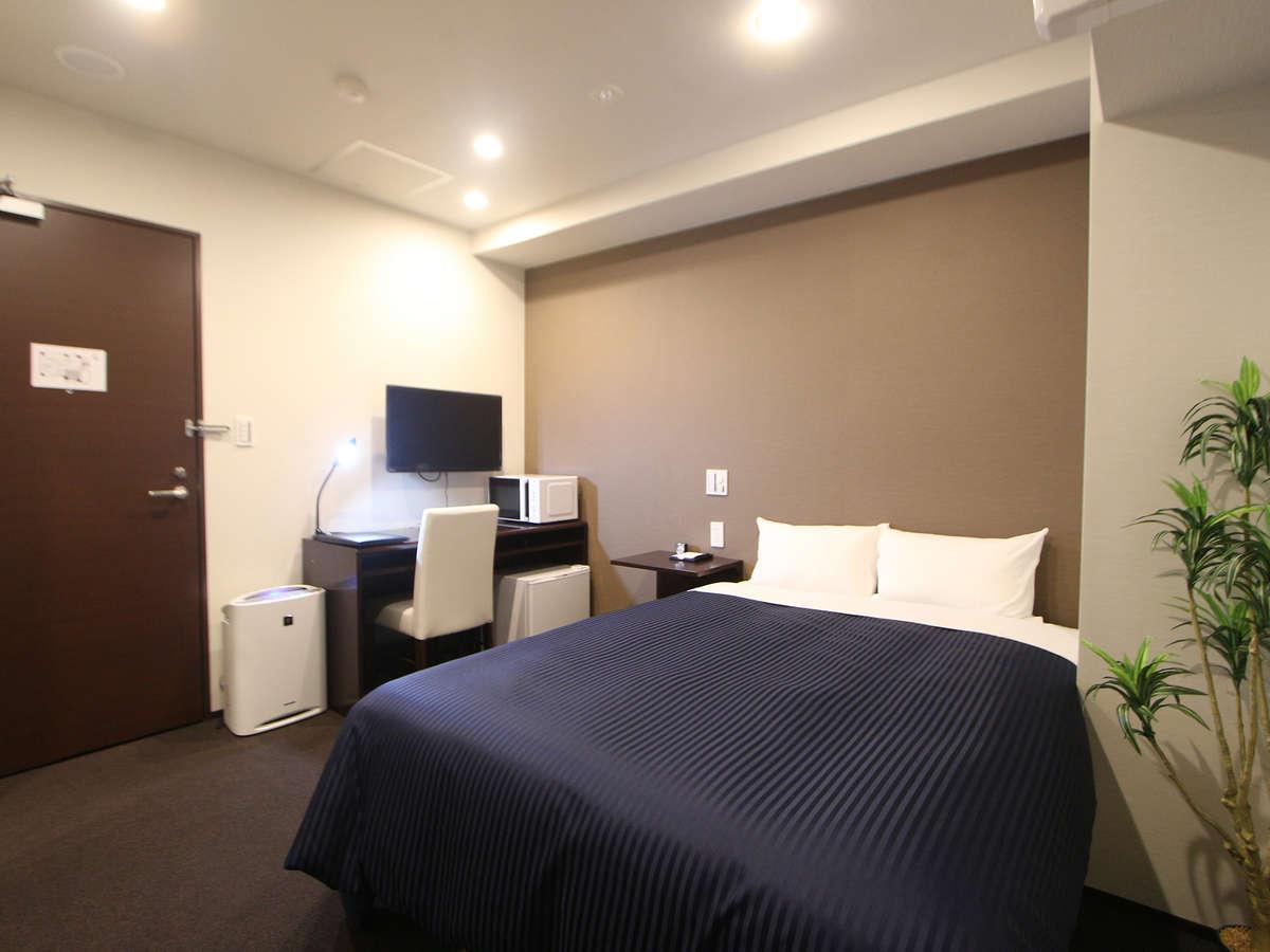 ホテルリブマックス東銀座 ダブルルーム☆禁煙☆ベッド幅140×200cm