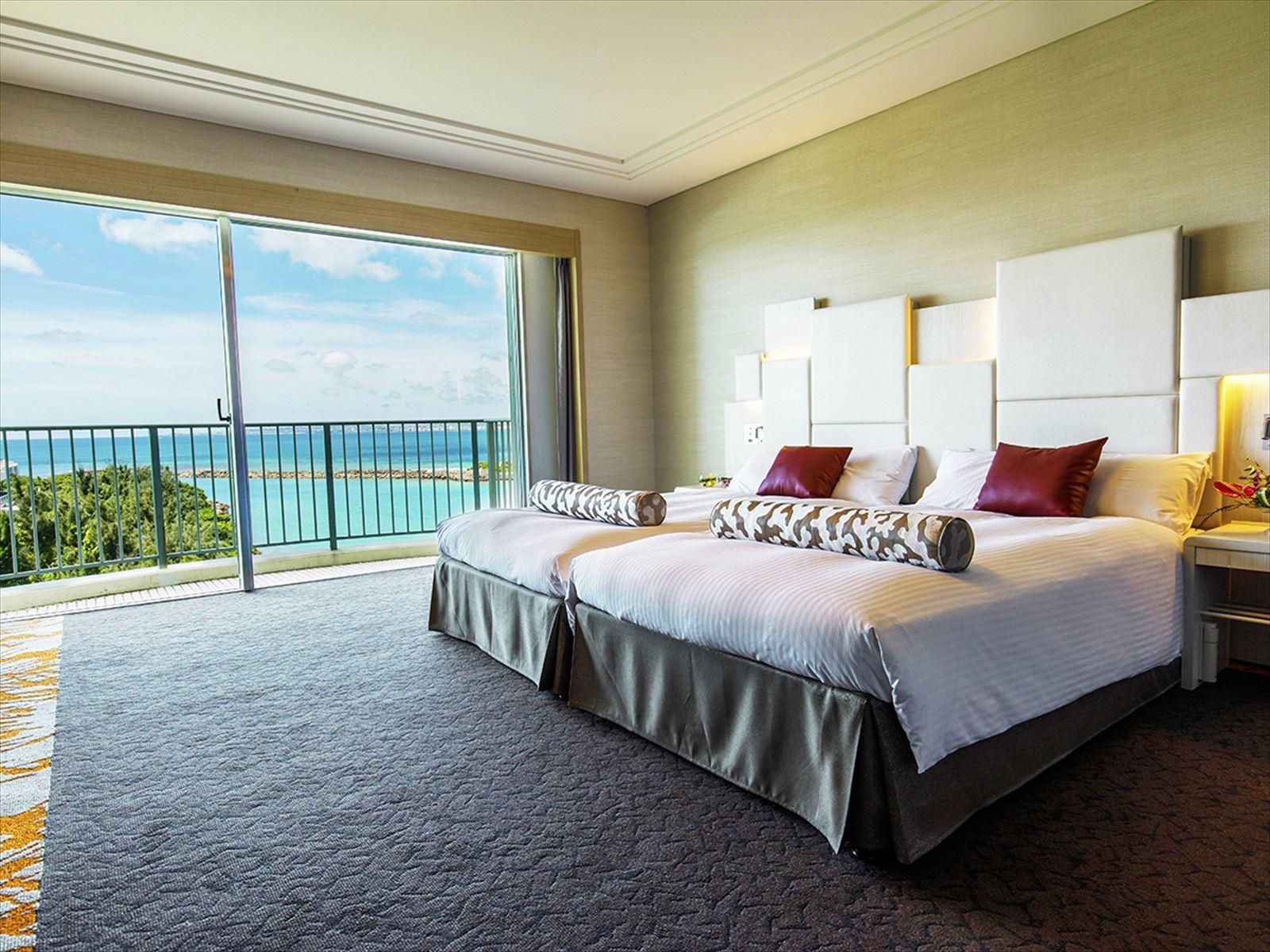 ラグナガーデンホテル / 【ツインA‐East Wing】【禁煙】ここだけの海を独占<43平米>