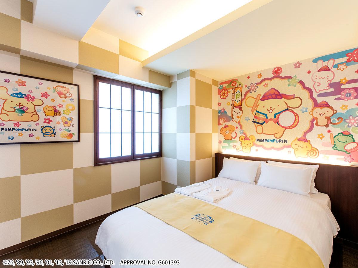 ホテル沖縄 with サンリオキャラクターズ ●ポムポムプリン 【キャラクターダブル】広々18㎡●