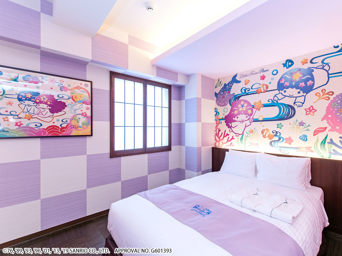 ホテル沖縄 with サンリオキャラクターズ ●リトルツインスターズ 【キャラクターダブル】広々18㎡●