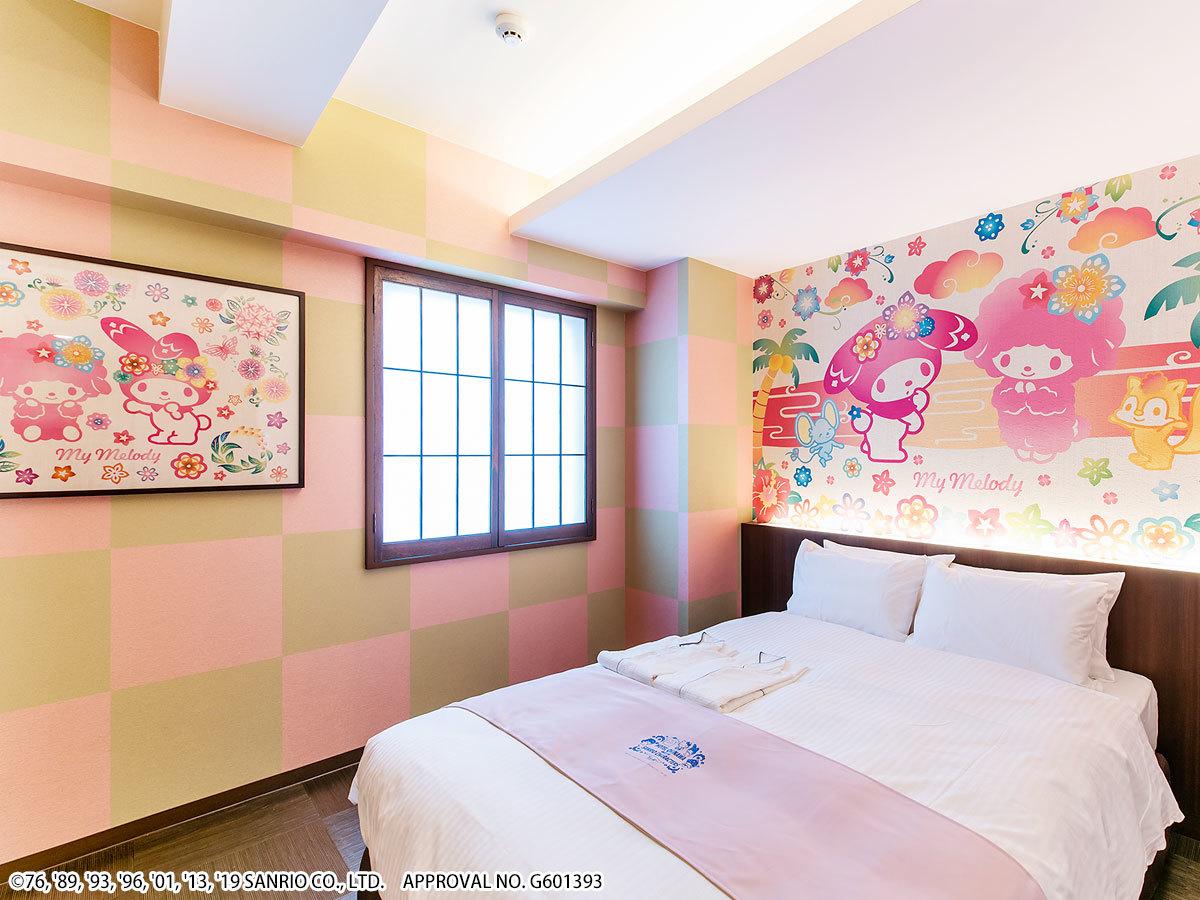 ホテル沖縄 with サンリオキャラクターズ ●マイメロディ 【キャラクターダブル】広々18㎡●