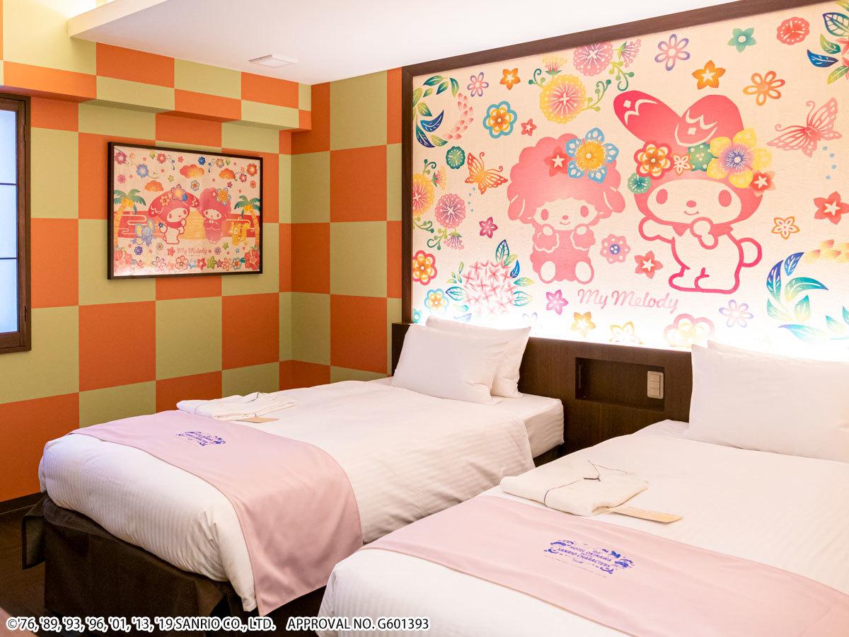 ホテル沖縄 with サンリオキャラクターズ ★マイメロディ 【キャラクターツイン】広々18㎡★