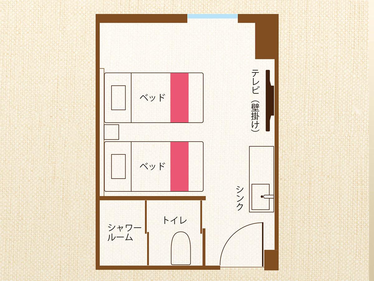 ホテル沖縄 with サンリオキャラクターズ ■おまかせルーム 【キャラクターツイン】広々18㎡■