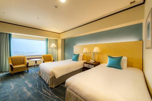 オークラアクトシティホテル浜松 【禁煙】アッパープレミアムコンフォート<br>ツインルーム 43~44階 (31㎡)