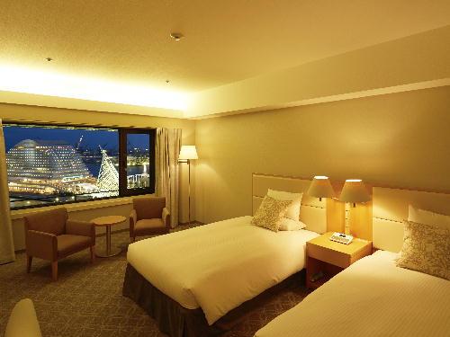 ホテルオークラ神戸 <喫煙>メインフロア デラックスツイン6~15階(37平米)