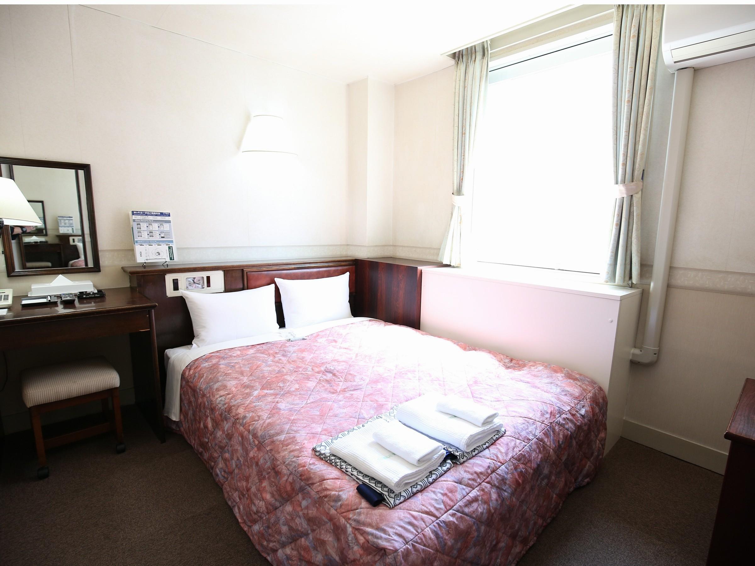 ホテル姫路プラザ / [喫煙室]セミダブルルーム(2名部屋)■ベッド幅120センチ